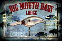 Fishing - Big Mouth Lodge Fine Art Print