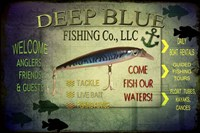 Fishing - Deep Blue LLC sign Fine Art Print