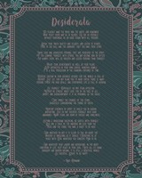 Desiderata Floral Frame Turquoise Fine Art Print