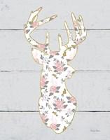 Floral Deer I Fine Art Print