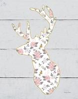 Floral Deer II Fine Art Print