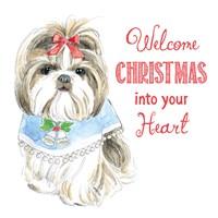 Glamour Pups Christmas II Fine Art Print