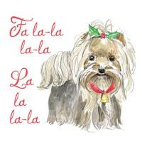 Glamour Pups Christmas VI Fine Art Print