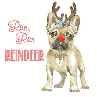 Glamour Pups Christmas V Fine Art Print