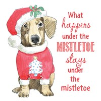 Glamour Pups Christmas III Fine Art Print