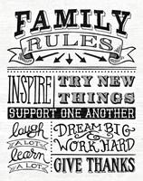 Family Rules II Fine Art Print