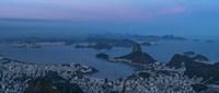 View of City from Christ the Redeemer, Rio de Janeiro, Brazil Fine Art Print