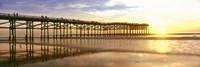 Pier at Sunset, Crystal Pier, Pacific Beach, San Diego, California Fine Art Print