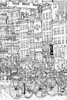 B&W City Scene I Fine Art Print