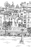 B&W City Scene V Fine Art Print