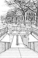 B&W City Scene VI Fine Art Print