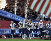 New England Patriots Team Introduction Super Bowl LI Fine Art Print