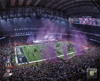 NRG Stadium after the New England Patriots won Super Bowl LI Fine Art Print