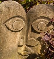 Fiji, Viti Levu, Stone carved sculpture Fine Art Print