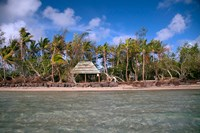 Shelter at Channel Beach, Turtle Island, Yasawa Islands, Fiji Fine Art Print