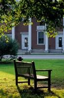 Bench in Sharon, Litchfield Hills, Connecticut Fine Art Print