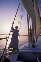 Falucca Sailing Down the Nile River, Egypt Fine Art Print