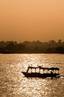 Egypt, Luxor Water taxi at sunset Nile River Fine Art Print