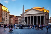 Sunlight on the Pantheon, Rome, Lazio, Italy Fine Art Print