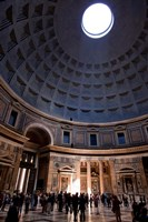 Interior of the Pantheon in Rome, Lazio, Italy Fine Art Print