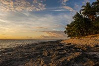 Late afternoon light on a beach on Beachcomber island, Mamanucas Islands, Fiji, South Pacific Fine Art Print