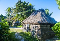 Local thatched hut, Yasawa, Fiji, South Pacific Fine Art Print