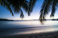 Sunset over the beach, Naviti, Yasawa, Fiji, South Pacific Fine Art Print