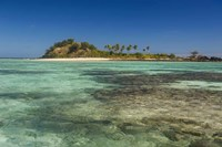 The turquoise waters of the blue lagoon, Yasawa, Fiji, South Pacific Fine Art Print