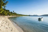 White sand beach, Oarsman Bay, Yasawa, Fiji, South Pacific Fine Art Print