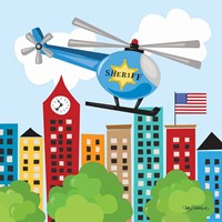 Helicopter Rescue Fine Art Print
