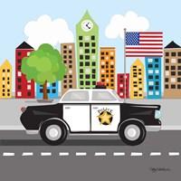 Police Car Fine Art Print