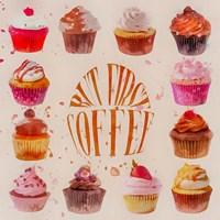 Cupcake Square Fine Art Print