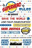 Superhero Rules Typography Fine Art Print