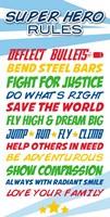 Superhero List Fine Art Print
