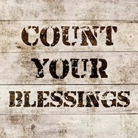 Count Your Blessings In Wood Fine Art Print