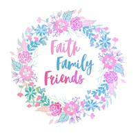 Faith, Family, Friends-Pastel Fine Art Print