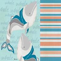 Nautical Whales Fine Art Print