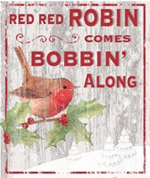 Red Red Robin Fine Art Print