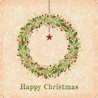 Happy Christmas - Wreath Fine Art Print