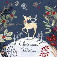 Christmas Wishes - Reindeer Fine Art Print