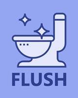 Boy's Bathroom Task-Flush Fine Art Print