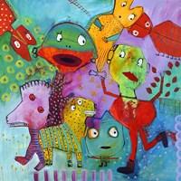 Colourfull Mars Men III Fine Art Print