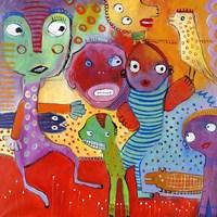 Colourfull Mars Men IV Fine Art Print