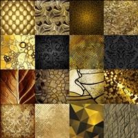 Tiles Decor Gold Fine Art Print