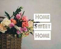 Home Sweet Home Flower Basket Color Fine Art Print