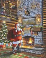 Christmas Eve With Santa Fine Art Print