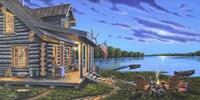 Lakeside Retreat Fine Art Print