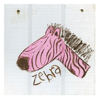 Happy Pink Zebra Fine Art Print