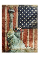 Statue Of America Is Great Again Fine Art Print