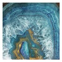 Gold Blue Flow Fine Art Print